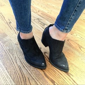 Dolce Vita Samson Black Leather Ankle Bootie 6